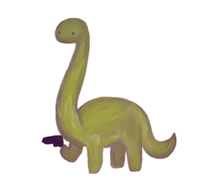 Dinosaur With Gun by Cookie-and-her-foxes