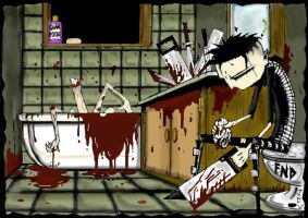 johnny the homicidal maniac by Abstractgirl