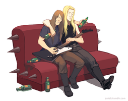 Metalocalypse - getting drunk by Okha