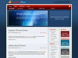 Royale Blue WordPress Theme by dulcepixels