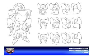 Rescue Bots Blades Head Turn Clean Up by thegreatjery
