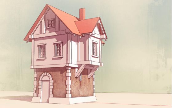old house by Apofiss