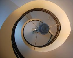 Art Deco Spiral Staircase by moonlightrose44