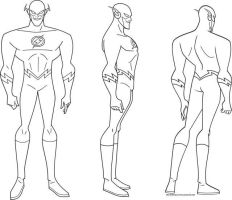 Flash Model sheet by Nes44Nes