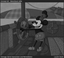 Fabric Steamboat Willie by Teh-Scotty