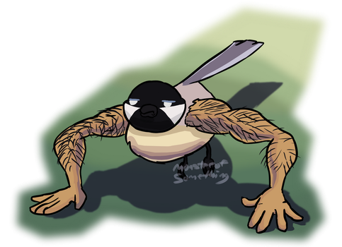 What if birds had long human arms by Monster-of-Something
