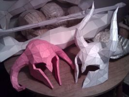 Skyrim Horned Helmets by ZombieGrimm