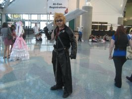 Cloud Strife in Anime Expo 10 by IronCobraAM