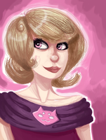 One-layer painting: Roxy Lalonde by Magdaleen-96