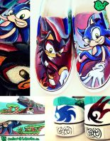 Sonic Shoes by artsyfartsyness