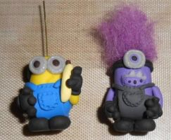 Despicable Me 2  Gru Minion and Evil Minion by Celtic-Dragonfly