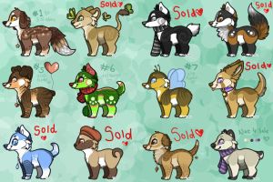 !!  Point Adoptables !! - OPEN by Autumnal-Husky