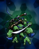 leonardo colored by pnutink