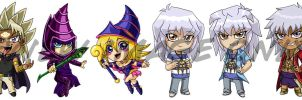 Yu-Gi-Oh Chibis Pt. 4 by Red-Flare