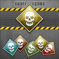 Skull Dock Icons by basstar