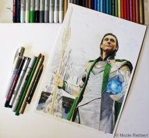 Loki - King of Asgard WIP by Quelchii