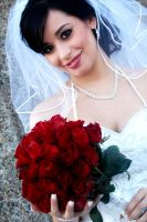 Bride with Roses - wedding by Mlarad