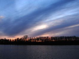 Marvelous evening sky from QC by Leniana
