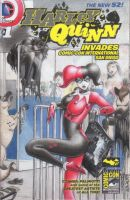 Harley and the babies SDCC Sketch Comic Cover 1 by DenaeFrazierStudios