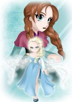 Elsa and Anna by ShadeIrving