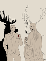 Dr. Lecter and Elvenking Thranduil. by Poizonsss
