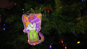 Candy Peach Ornament :GIFT: by CyberKyberDarkness