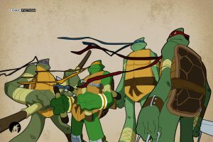 Turtles Poster Shot by ComicFiction