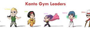 Pokemon Chibis: Kanto Gym Leaders by ToonYoungster