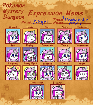PMD expression meme - Pawniard Angel by Angelchao64