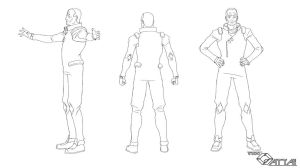 Red Captain ModelSheet Body 2d by unitzer07