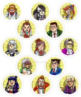ACE ATTORNEY BUTTONS by balnibarbi