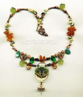 Green Wolf Necklace by ssantara