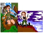 My old picture - Tomb Raider Chibi by syahilla
