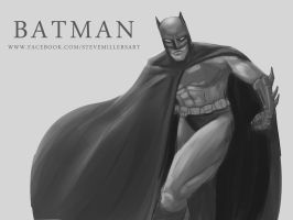 Batman Sketch by SteveMillersArt
