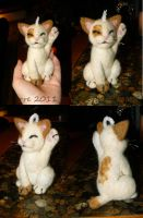 Felted lucky cat by Spyrre