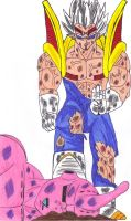 Majin Baby Vegeta (2nd Form) Beat Kid Buu by DBZ2010