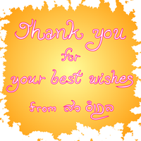 Thank you for your wishes card image by sw-eden