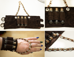 Steampunk Potion Cuff by elvaniel
