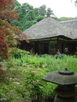 Tranquil Japanese Temple Scene by Valanaster