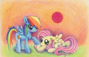 Rainbowdash and Fluttershy by xxswanfeather