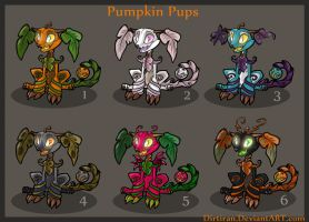 Pumpkin Pup Adoptables CLOSED by Key-Feathers