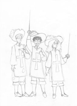 HPtrio as the three musketeers by elviella