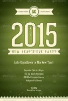 Retro New Year's Eve Party Flyer Template by loswl