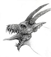 Decaying Dragon head by ThaHellion