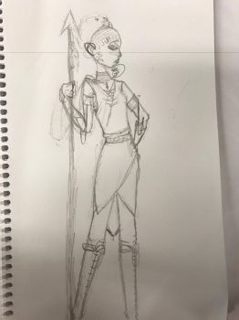 Character design sketch by ProcrastinatingTiger