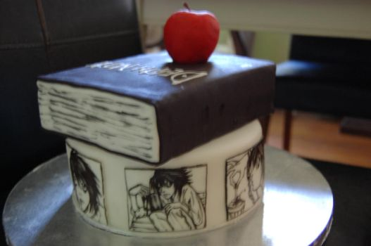 death note L cake by sydney96