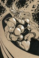 Beta Ray Bill tone sketch by TravisTheGeek