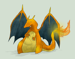 The Majestic Charizard by Iddle-Diddle