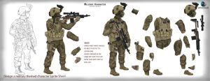 Army Character - Sprite Sheet ZE by zagreusent