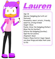 Lauren the Hedgehog by The-Blonde-Nerd